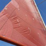 Bruin-tanbark grootzeil - Rossiter Pintail - zeilmakerij m-sails 1